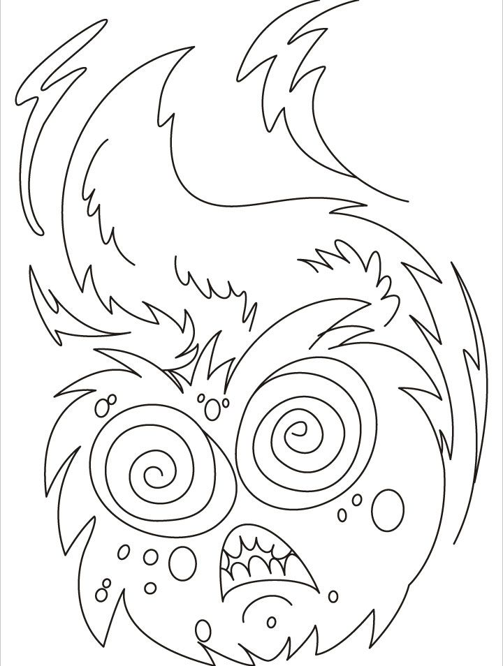 Dont Come Near Me I Am Dangerous Monster Coloring Pages