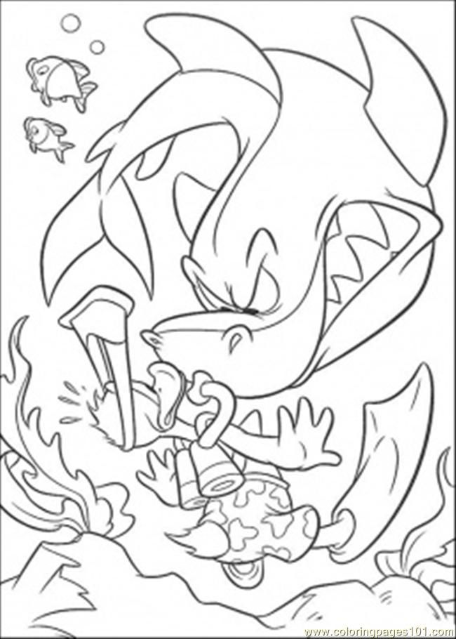 Coloring Pages And Shark (Fish > Shark) - free printable coloring