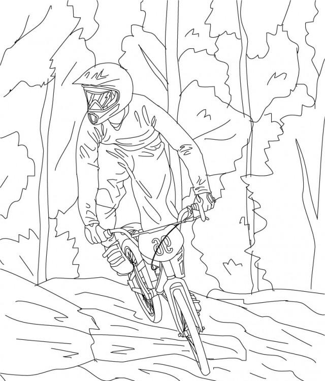 bmx coloring pages - photo#28