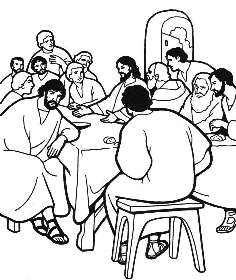 Holy Week Coloring Pages Coloring Home The Last Supper Coloring Page