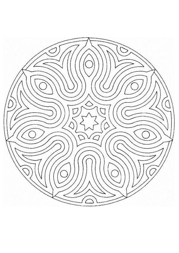 Mandala Coloring Pages Advanced : Advanced mandala coloring pages home