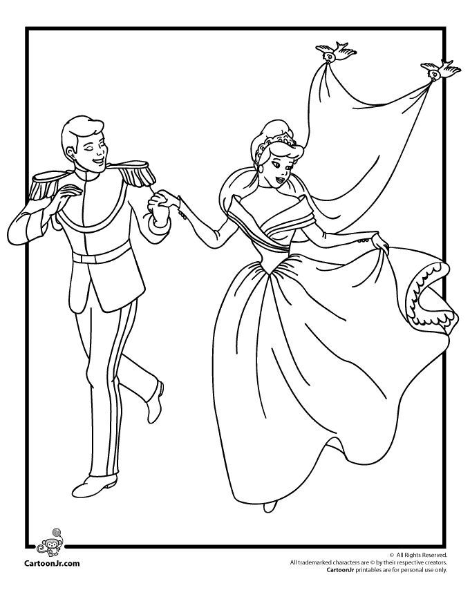 disney wedding coloring pages - photo#13