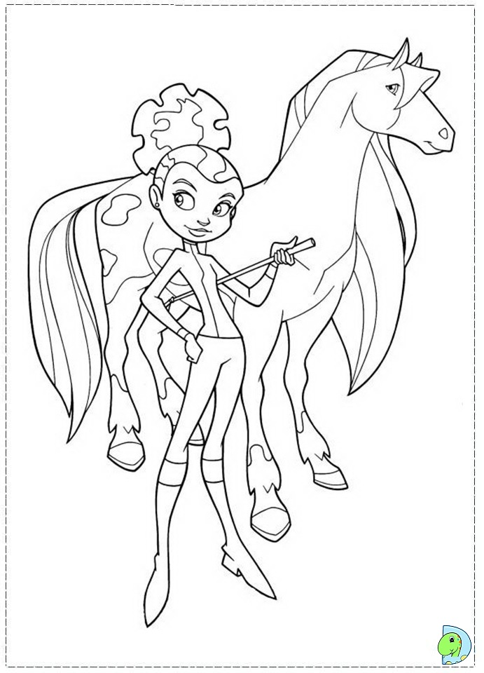 horseland coloring page az coloring pages