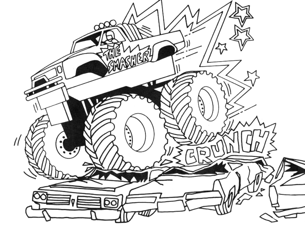 Cool monster pictures az coloring pages for Cool truck coloring pages