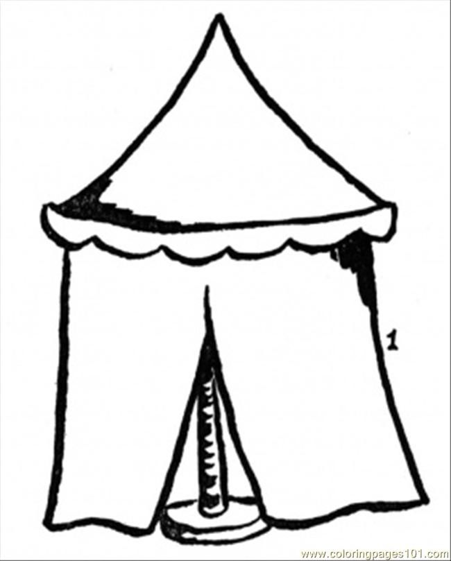 Circus Tent Coloring Page - Coloring Home