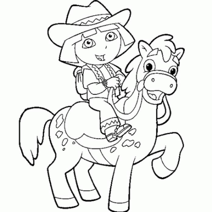 Dora coloring pages online coloring home for Dora the explorer coloring pages printable