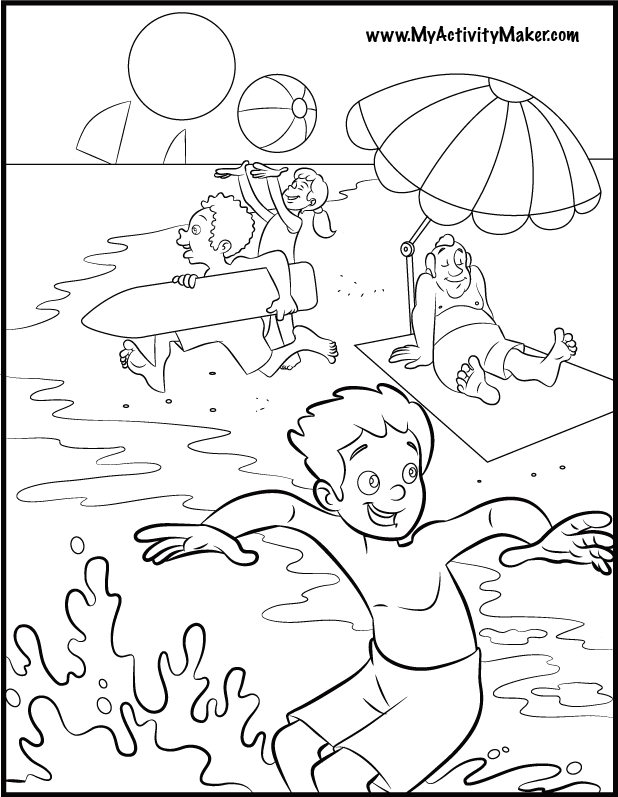coloring pages free summer wallpaper - photo#16