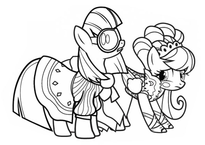 Hasbro Coloring Pages My Little Pony : My little pony friendship is magic coloring pages online
