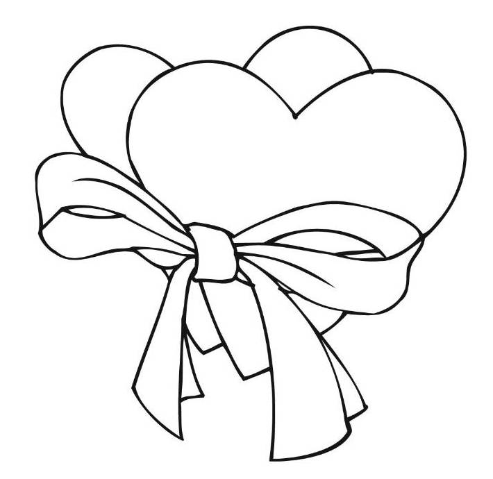 Print Two Loving Hearts Coloring Page Or Download Love Heart Pages 536