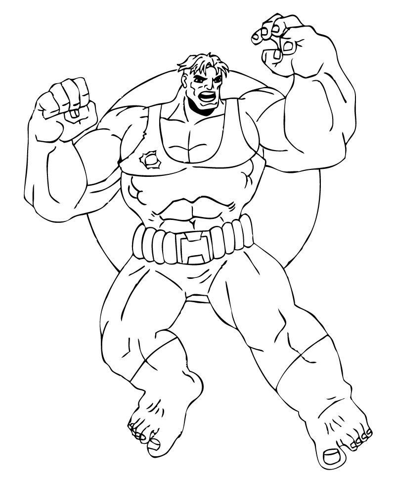 THE INCREDIBLE HULK coloring pages : 60 free superheroes coloring