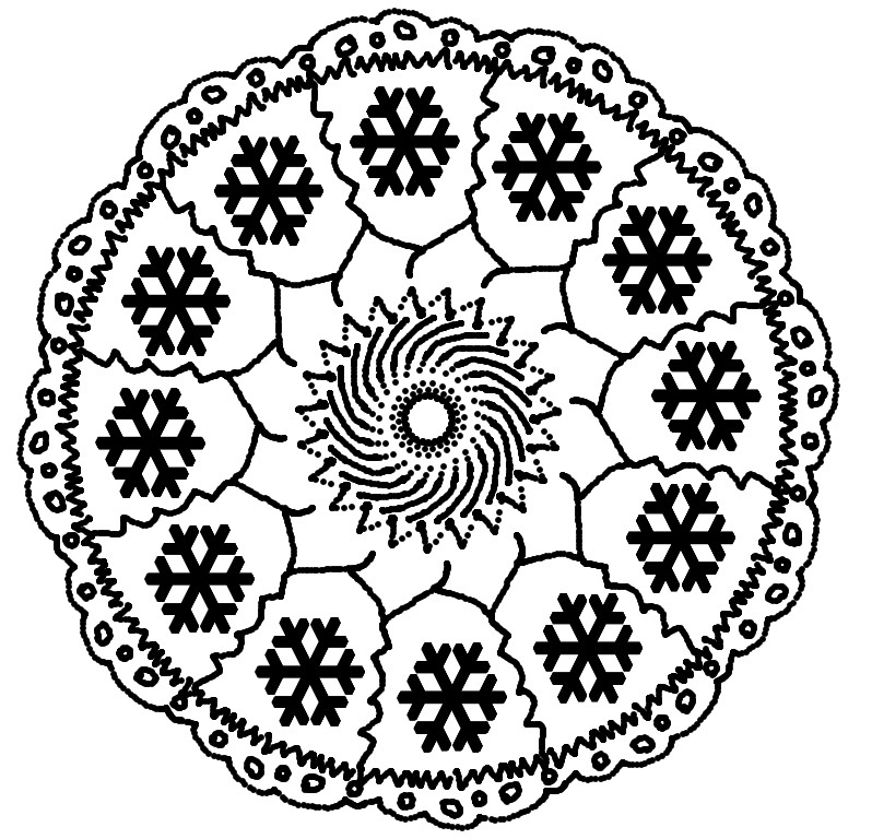 Coloring Pages Christmas Mandalas Drawing