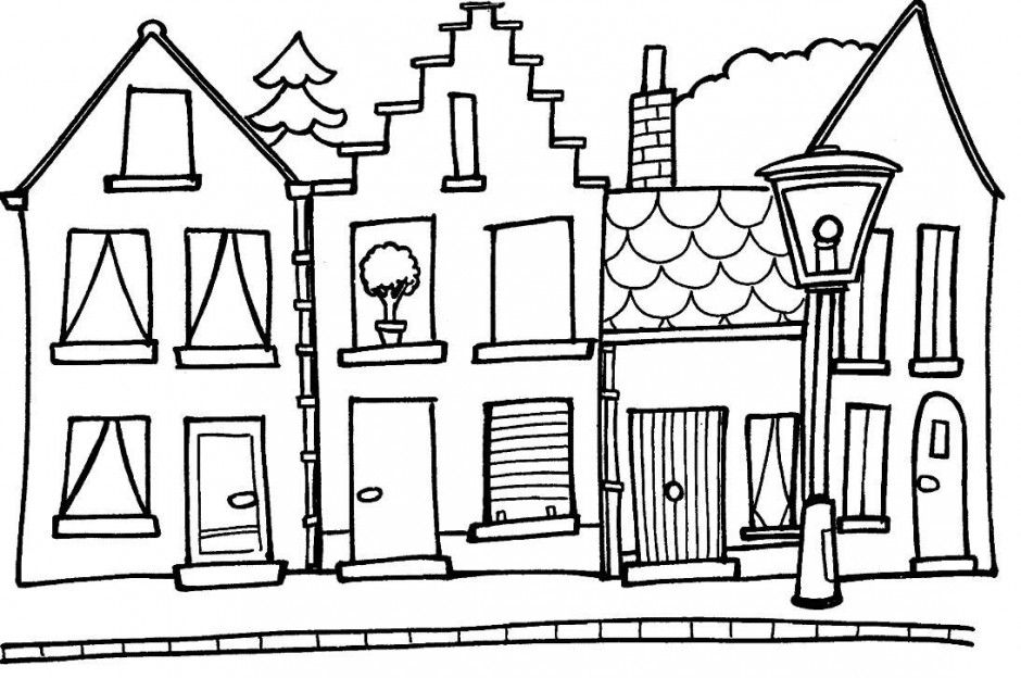 Coloring Pages Opera House Architecture Buildings Free Printable