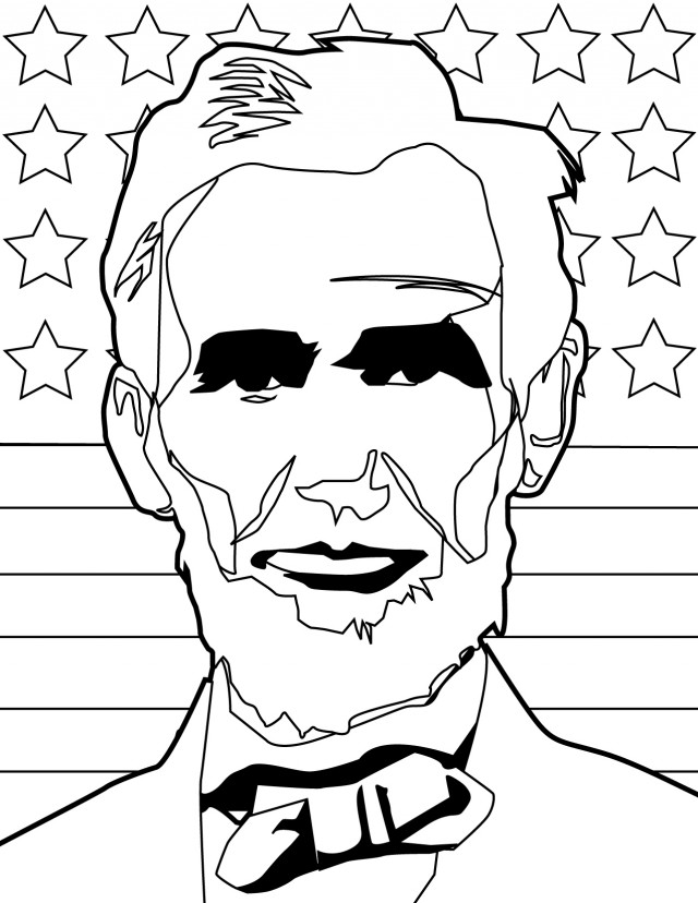 abraham lincoln coloring pages print - photo #16
