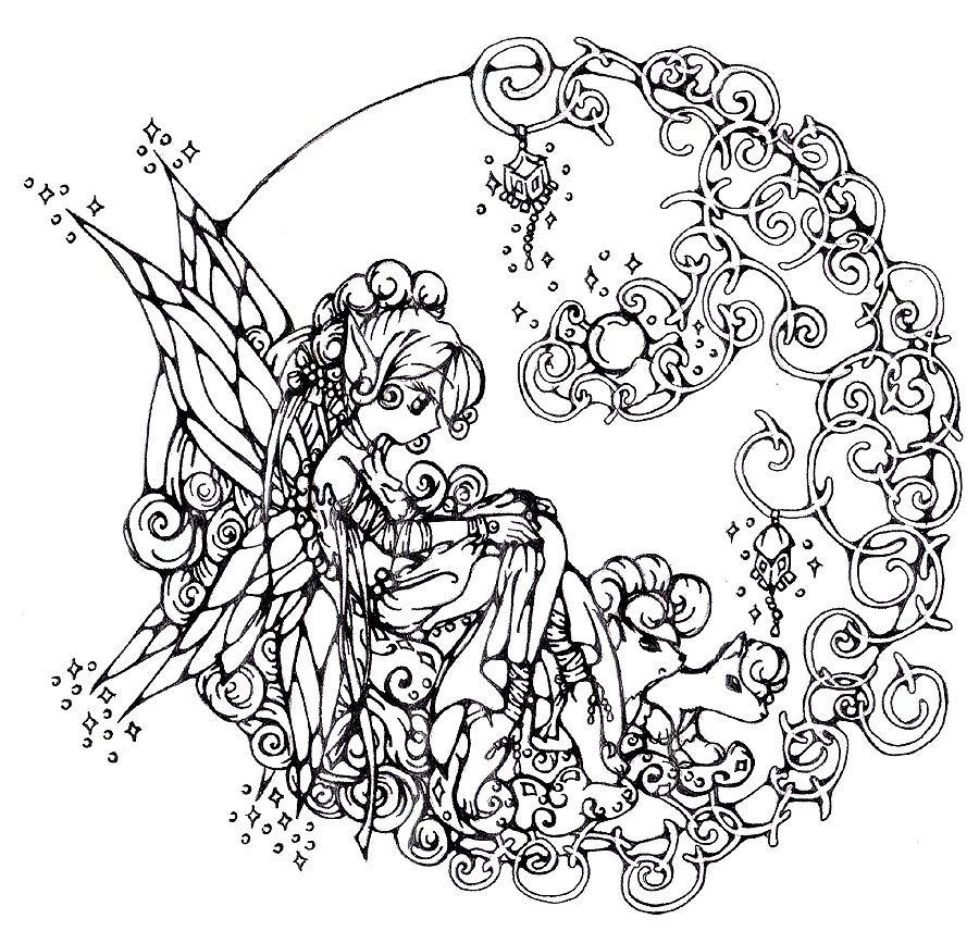 fairy coloring pages for adults coloring picture hd for kids