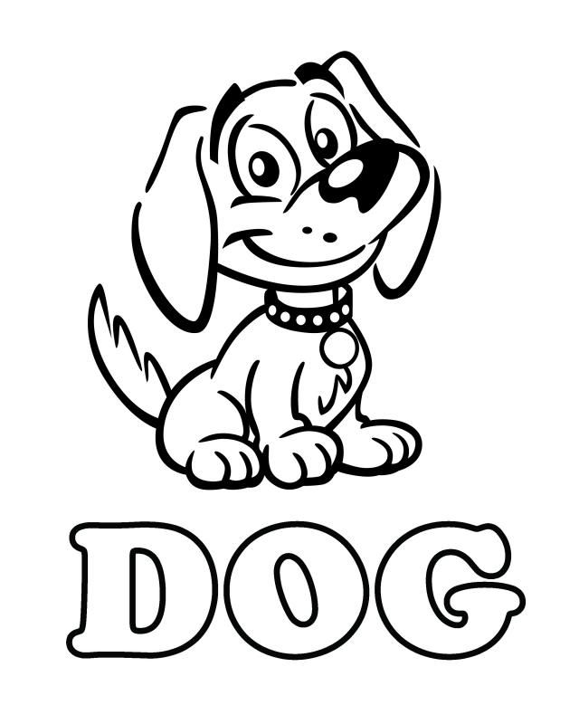 Dog Coloring Pages For Kids Printable - Coloring Home