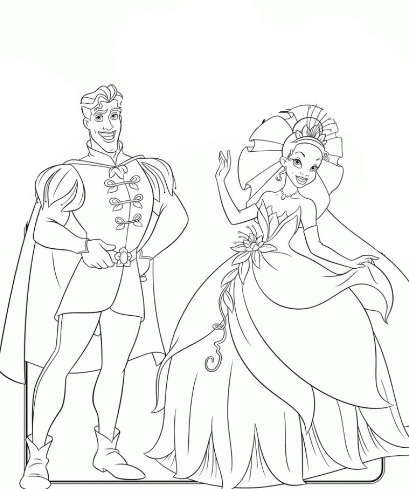 Disney The Princess And The Frog Coloring Page - Kids Colouring Pages