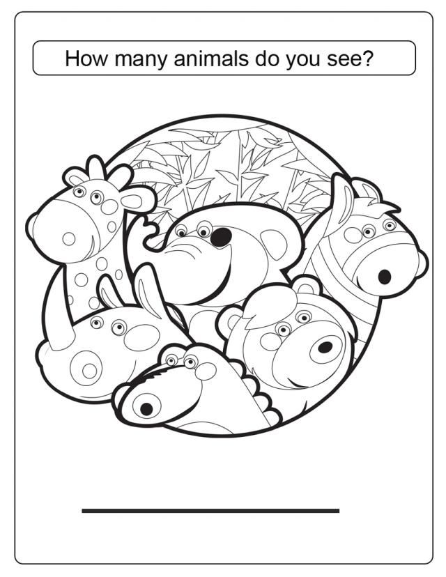 free printable counting coloring pages - photo#5