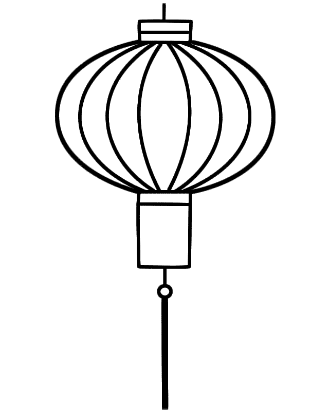 Color in chinese coloring home for Chinese lantern template printables