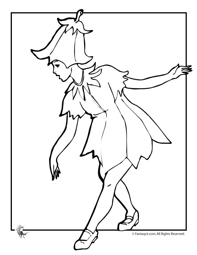 Flower fairies coloring pages az coloring pages for Flower fairy coloring pages