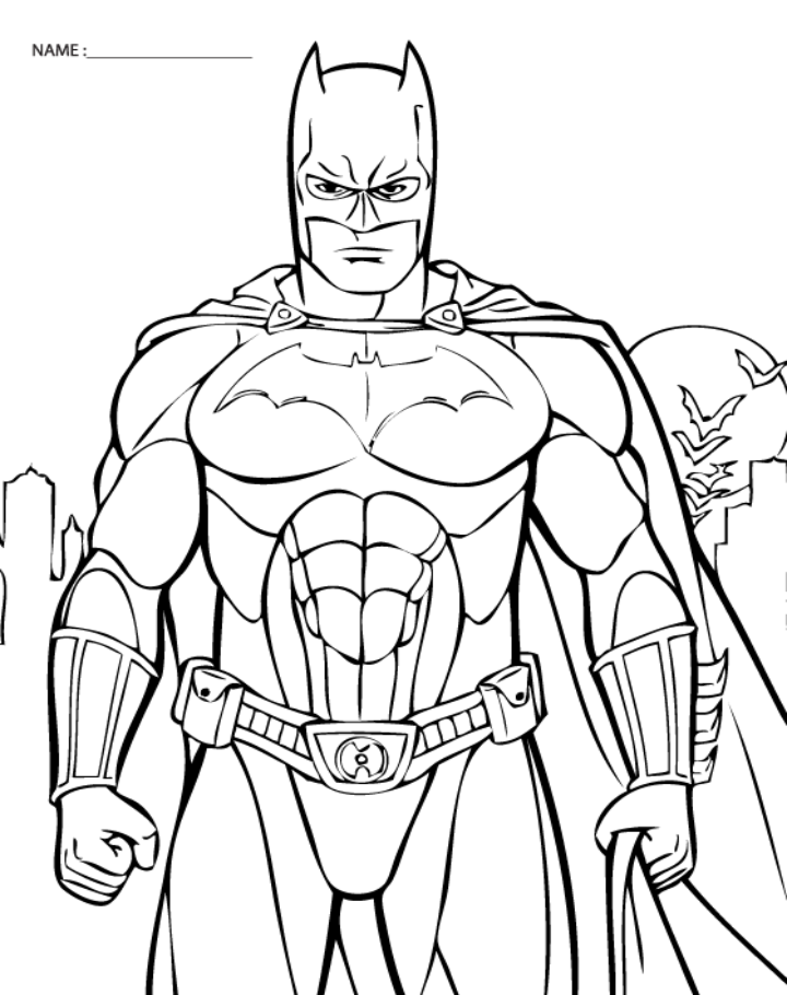 Batman Free Coloring Sheet Printable