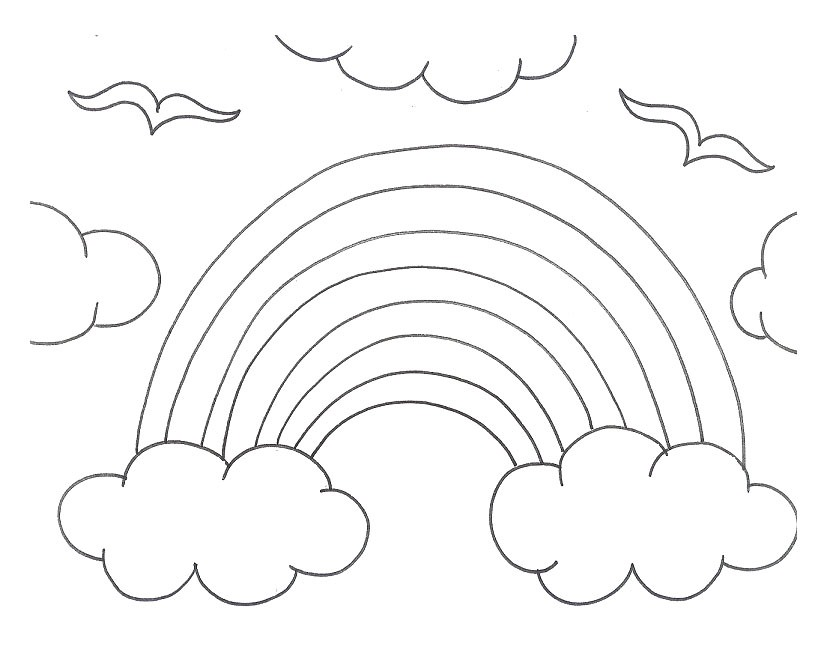 rainbow coloring pages for kid - photo#27