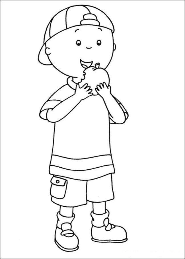 Caillou Coloring Pages and Book | UniqueColoringPages