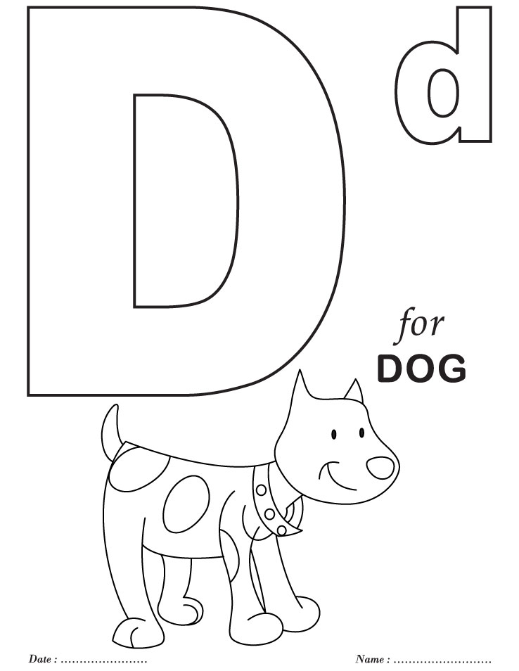 the letter d coloring pages - photo#14