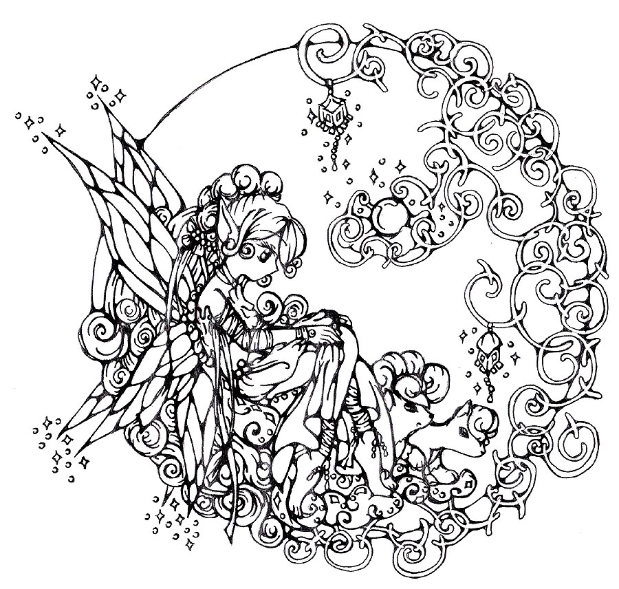 Free Adult Coloring Pages Fairies on Psychedelic Nature Coloring Pages