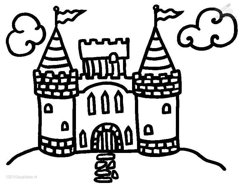 Princess Castle Coloring Pages  Coloring Home