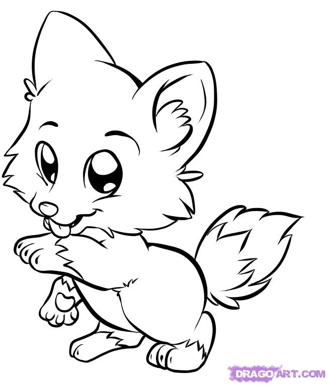 Cute Animal Coloring Pages For Kids AZ