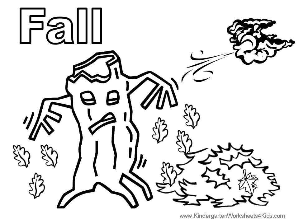 fall leaves preschool coloring pages - photo#17