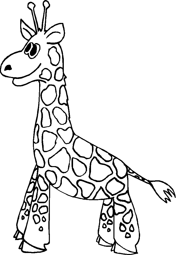 Giraffe Coloring Pages For Kids - Coloring Home