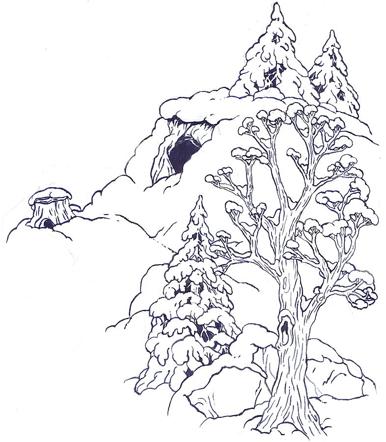 the mitten coloring pages - photo#37