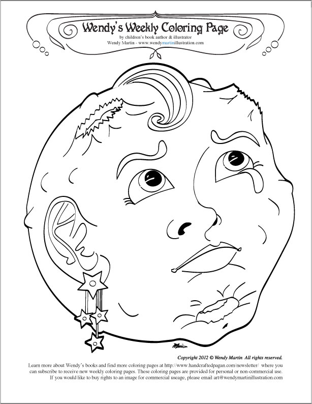 Harvest Moon Coloring Pages Full Moon Coloring Page