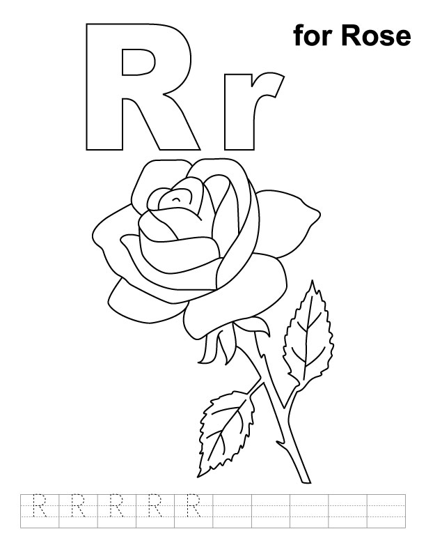 R Is For Ring Coloring Pages R Coloring Pages - AZ ...