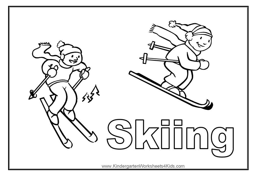 bears skiing coloring pages - photo#19
