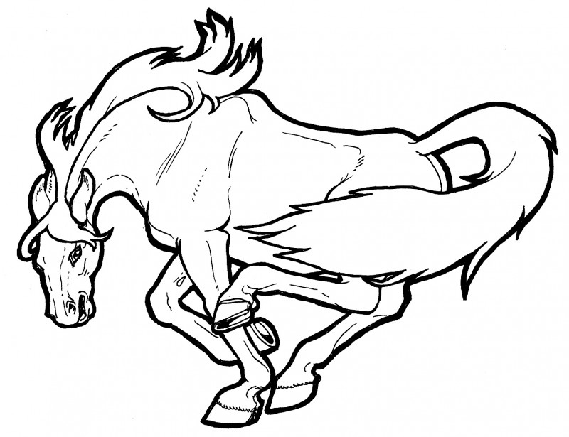 mustang coloring pages to print - photo#29