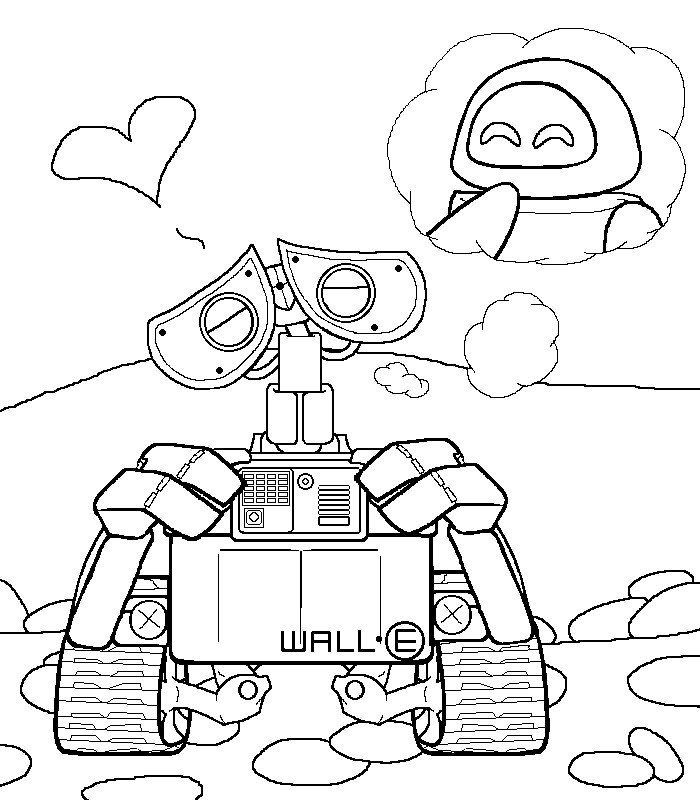 Wall E Coloring Pages Free Printable : Wall e in love ol by stellasstar on deviantart
