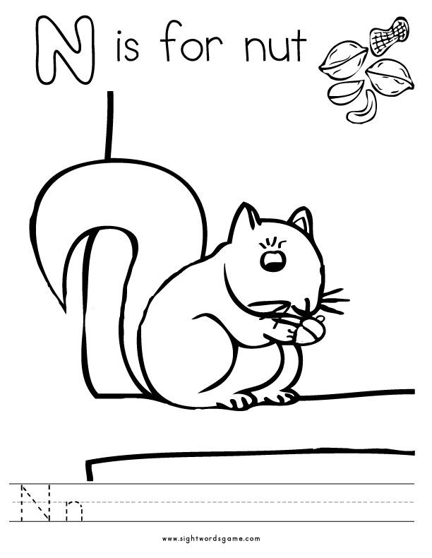 Letter N Preschool Coloring Pages Kids N Fun Pokemon Printable Coloring Pages Kids N Fun Kids ...