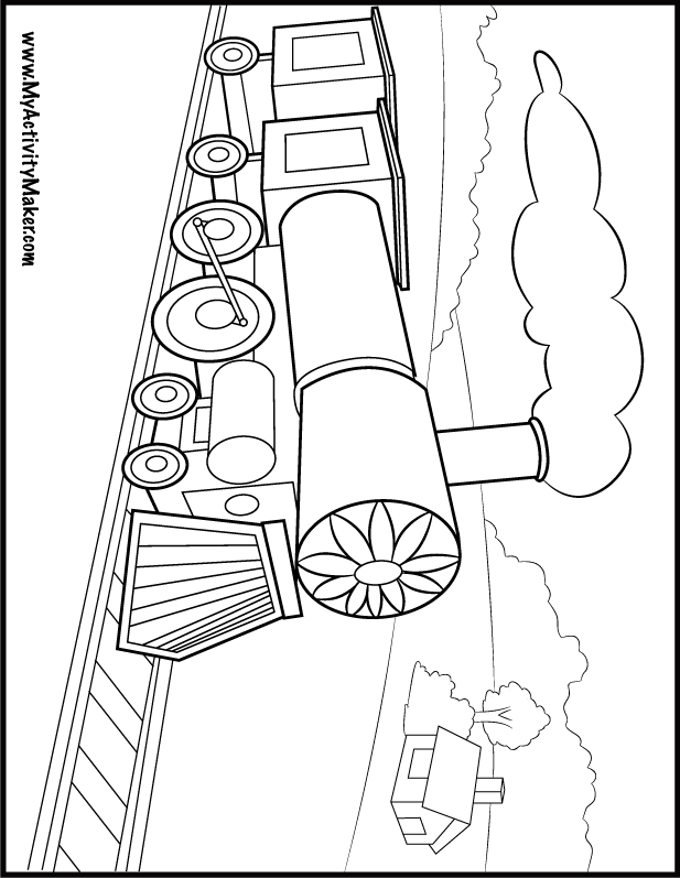 railroad freight cars coloring pages - photo#15