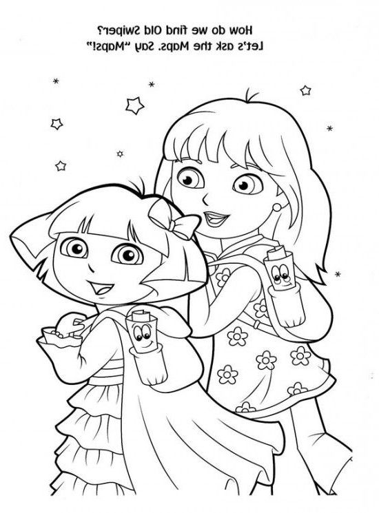 Dora Christmas Coloring Pages - Coloring Home