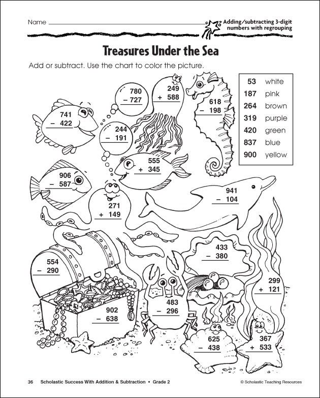Subtraction Coloring Pages Coloring Home – Subtracting 3 Digit Numbers with Regrouping Worksheets