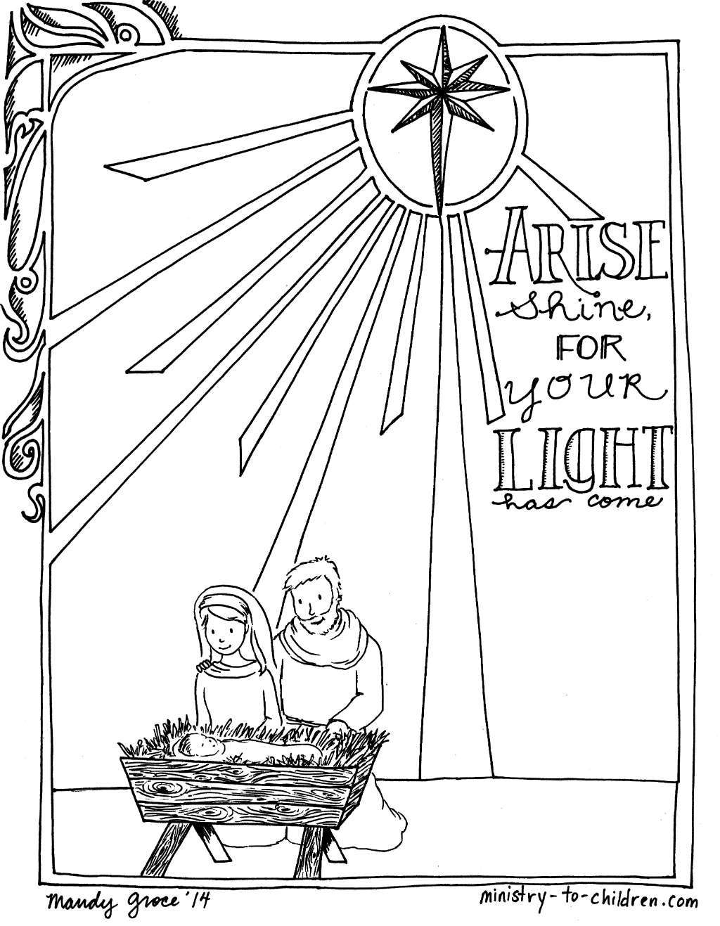 Nativity Coloring Pages Printable 4 5 1000 Images About