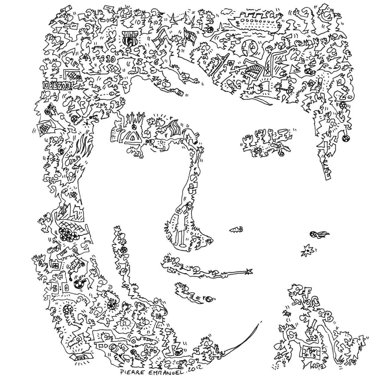 Lionel Messi Drawings Easy Sketch Coloring Page