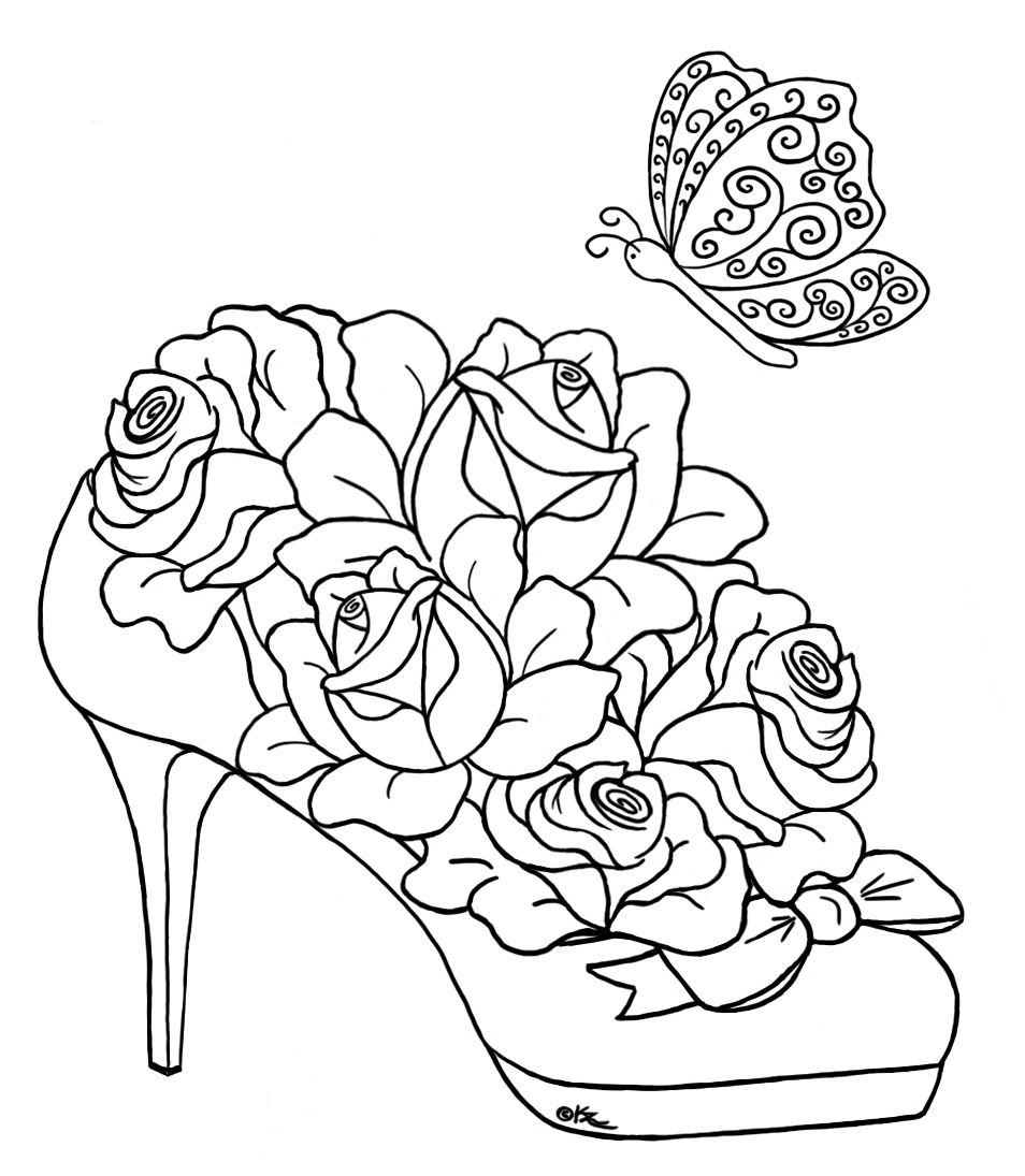 Roses and hearts coloring pages coloring home for Free coloring pages hearts