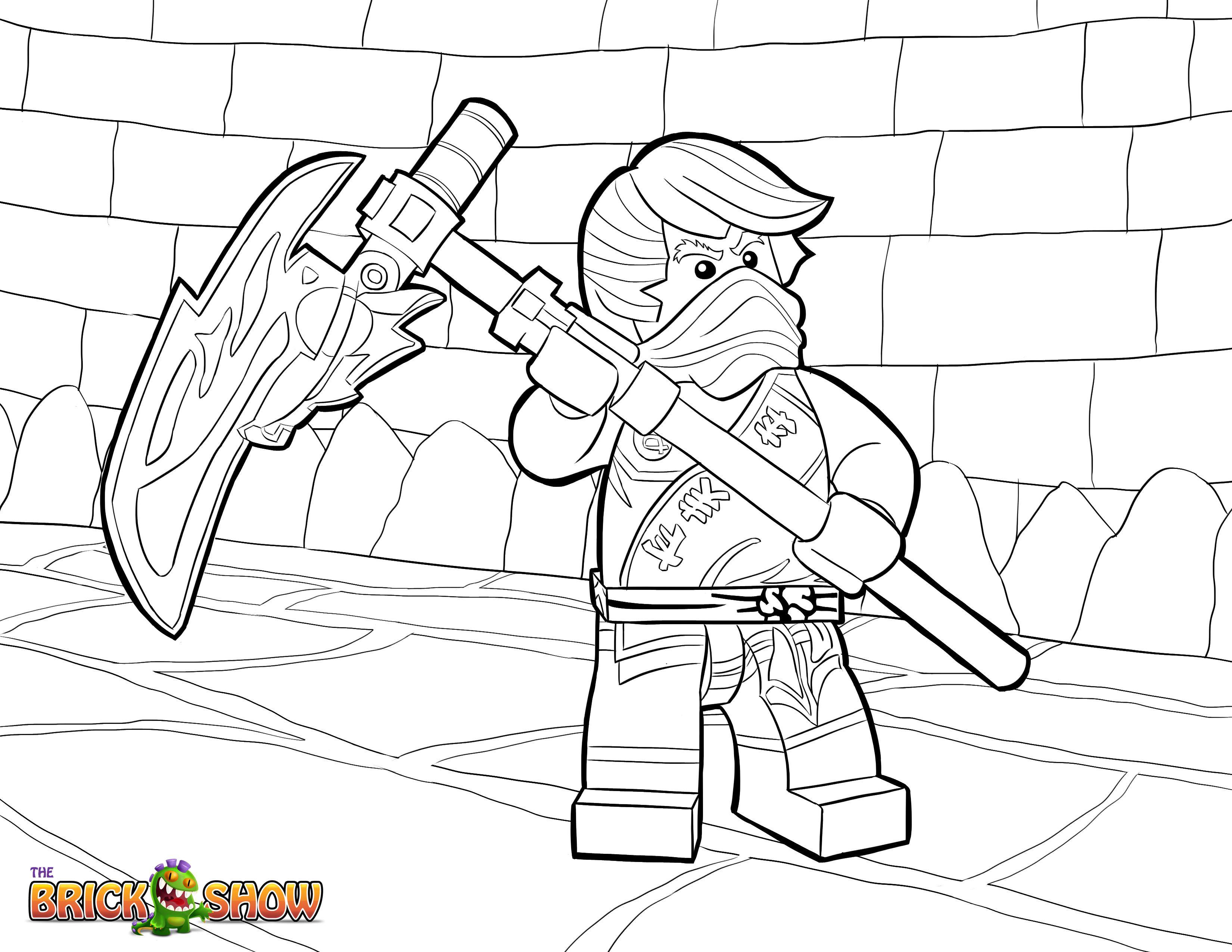 Lego Ninjago Coloring Pages Free Printable Lego Ninjago Color