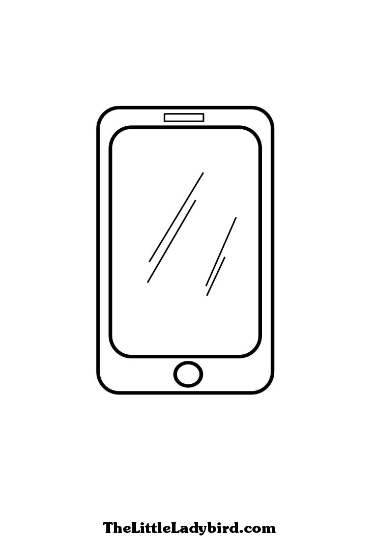 Phone Coloring Pages - Coloring Home