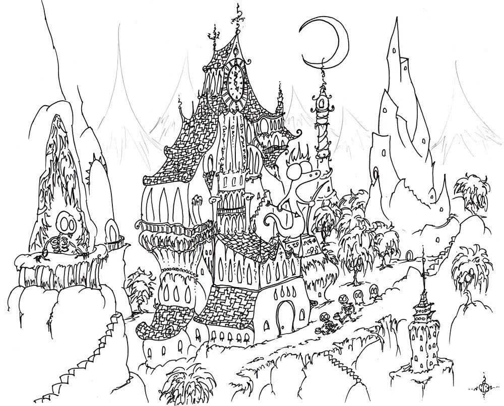 Intricate coloring pages for adults coloring home for Hard coloring pages