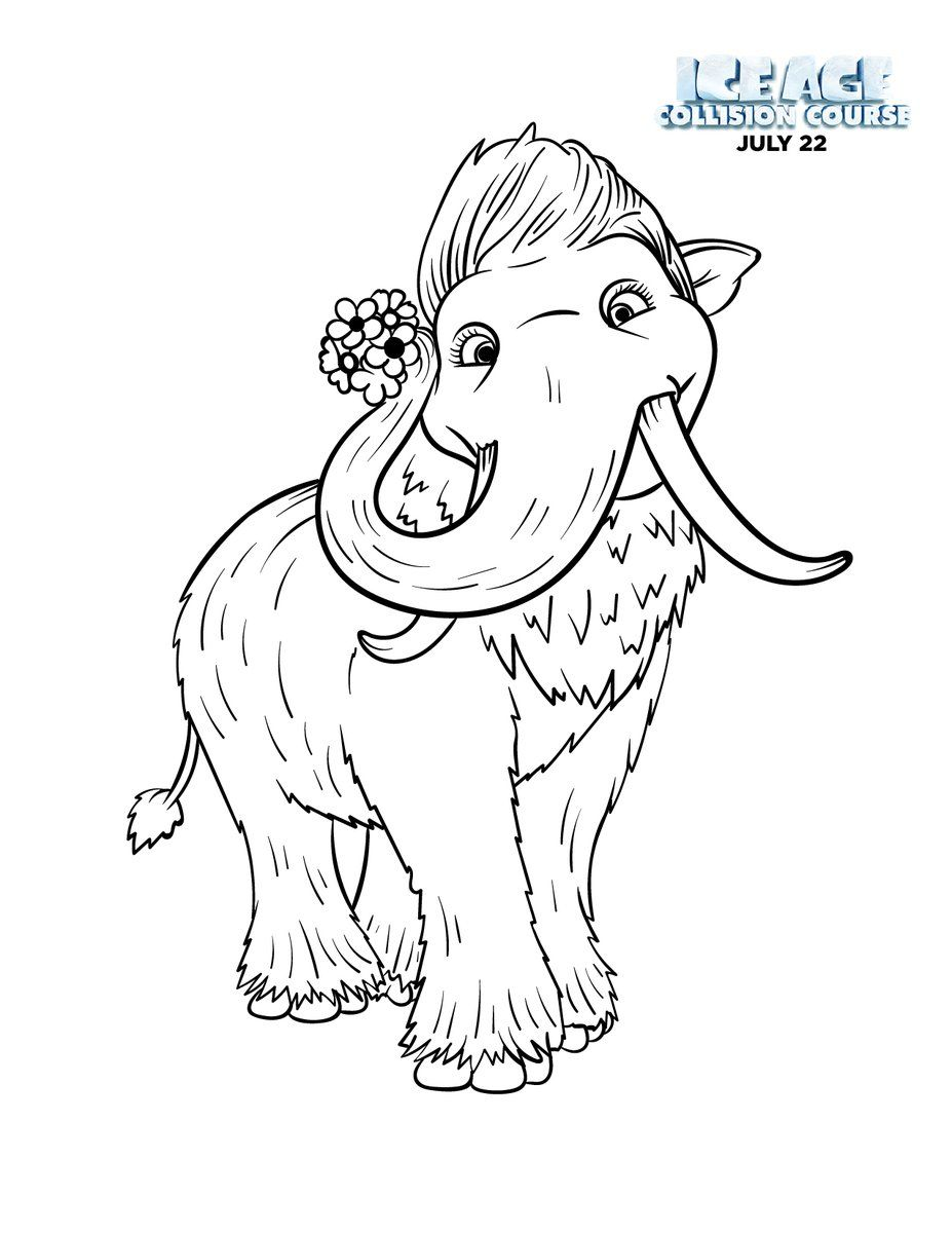 Ice age collision course coloring pages coloring home for Stay out coloring pages