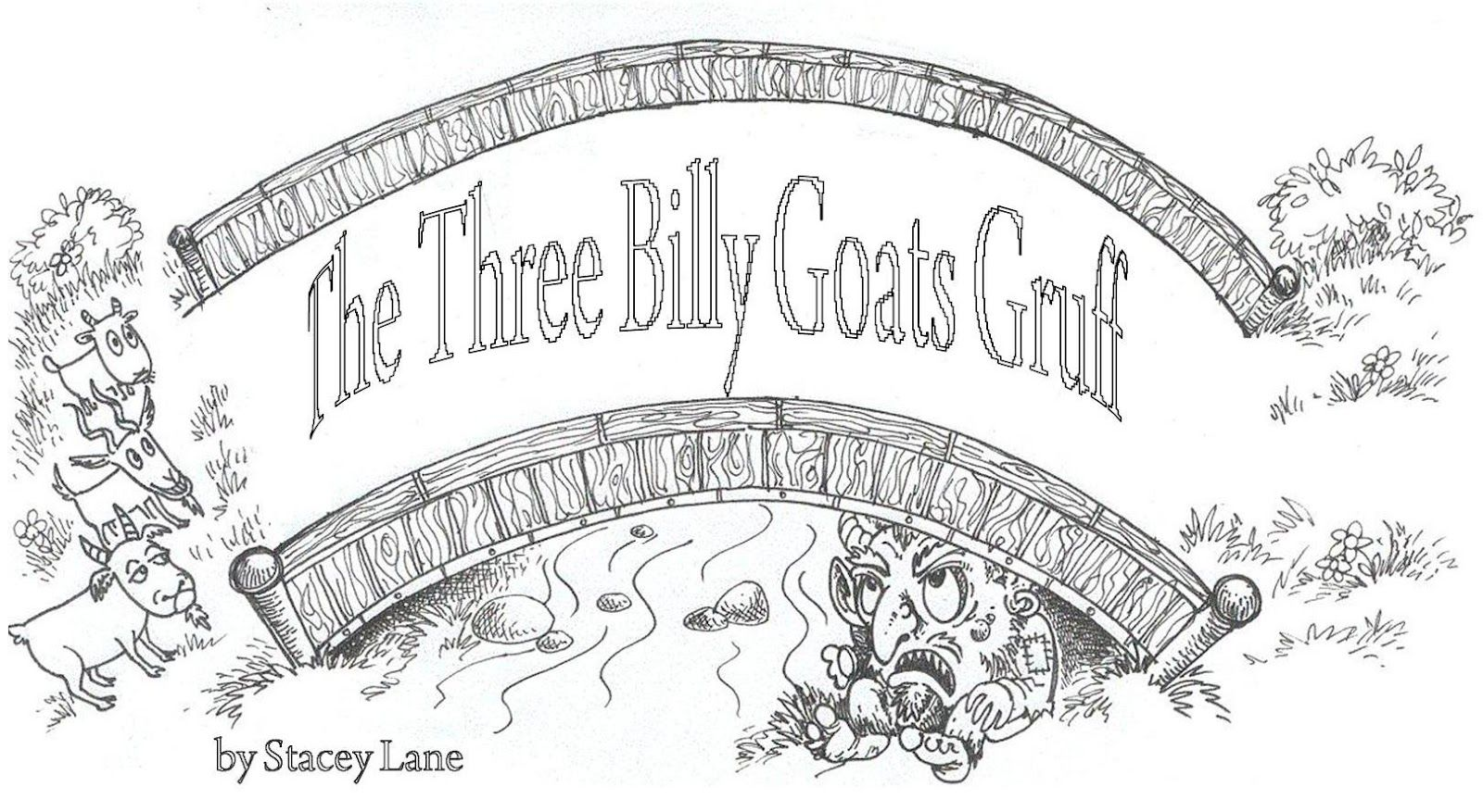 The Three Billy Goats Gruff Coloring